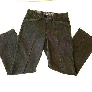 Size 6P Blue Straight Denim Jeans Dark Wash